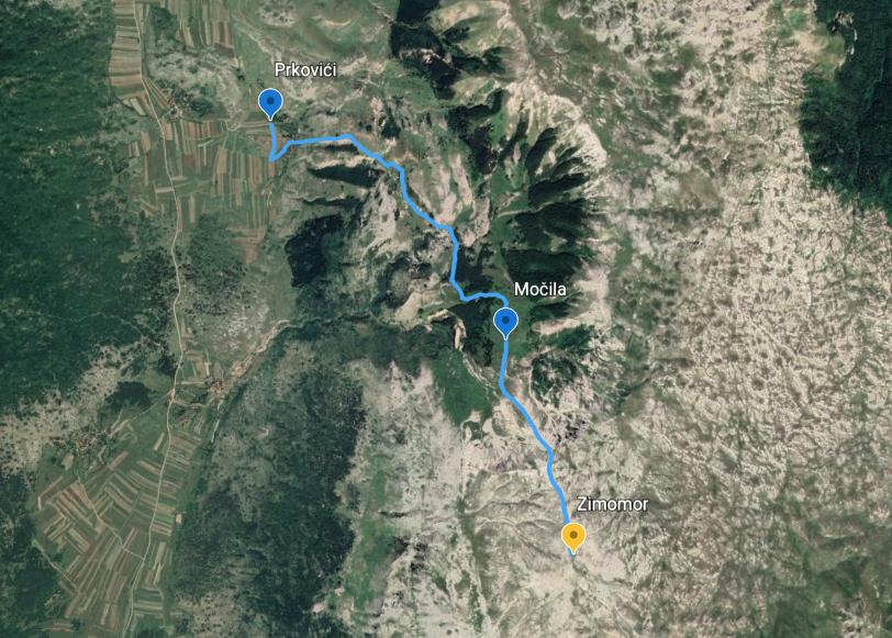 Markiranje staze Prkovići – Močila – Zimomor na planini Crvanj